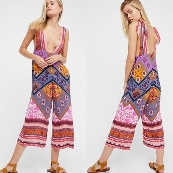 c81c578ca50 NWT Free People Maritzah Printed Jumpsuit